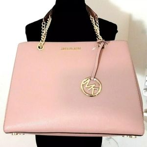 Michael Kors Susannah Large Leather Tote Handbag